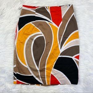 Worthington Colorblock Abstract Pencil Skirt